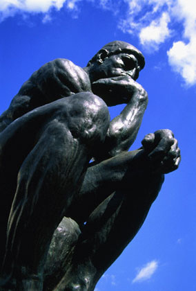 The thinker.sky background