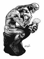 Thinker illustration